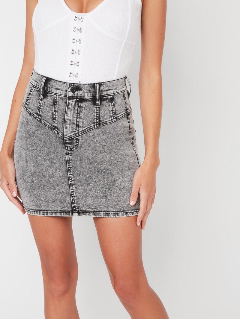 Anne Acid Wash Denim Mini Skirt