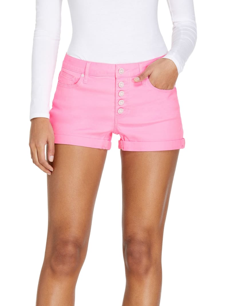Zia Neon Button-Fly Shorts
