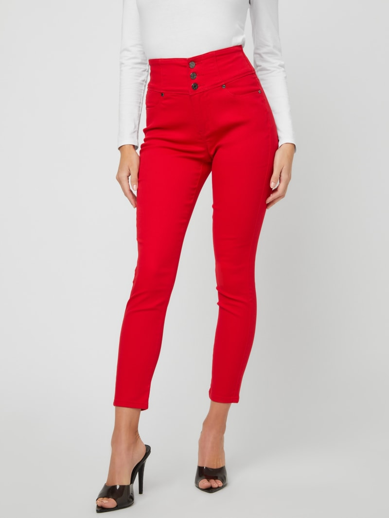 Emmy Rhinestone Logo Skinny Jeans