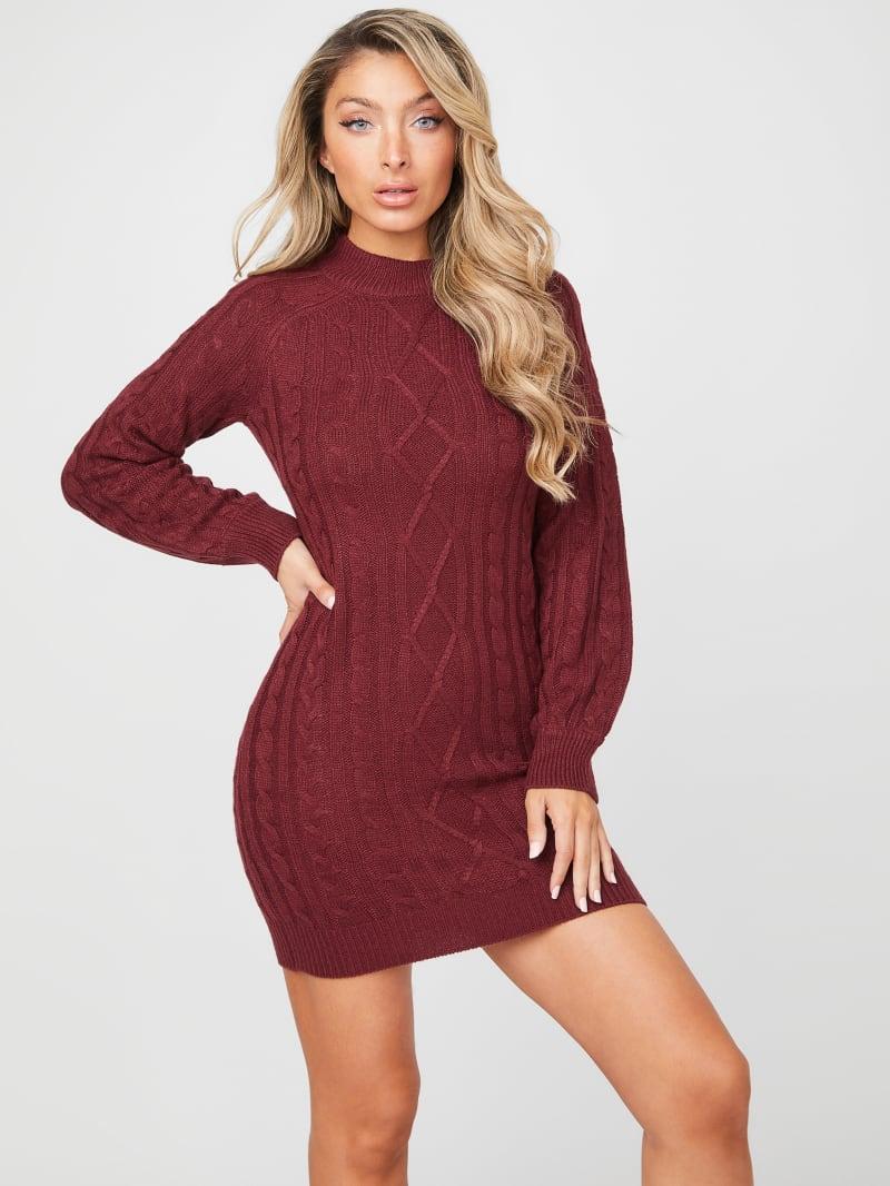 Carlona Cable Knit Sweater Dress