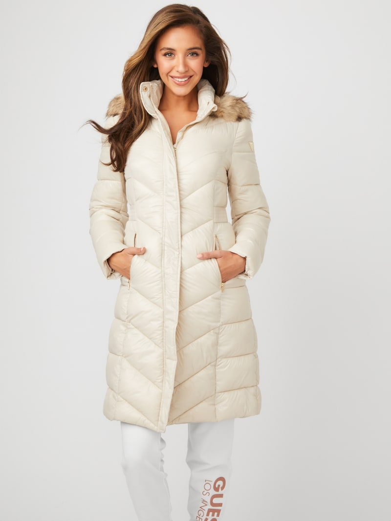 Terry Longline Puffer Coat