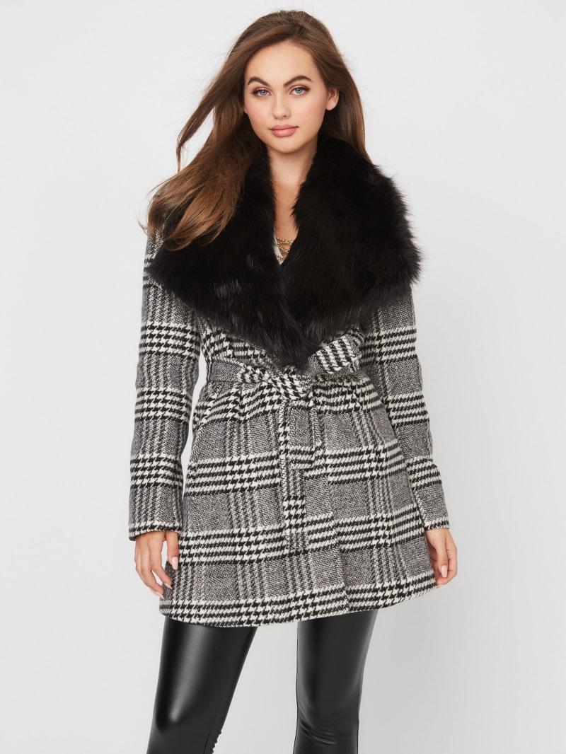 Mandy Houndstooth Coat
