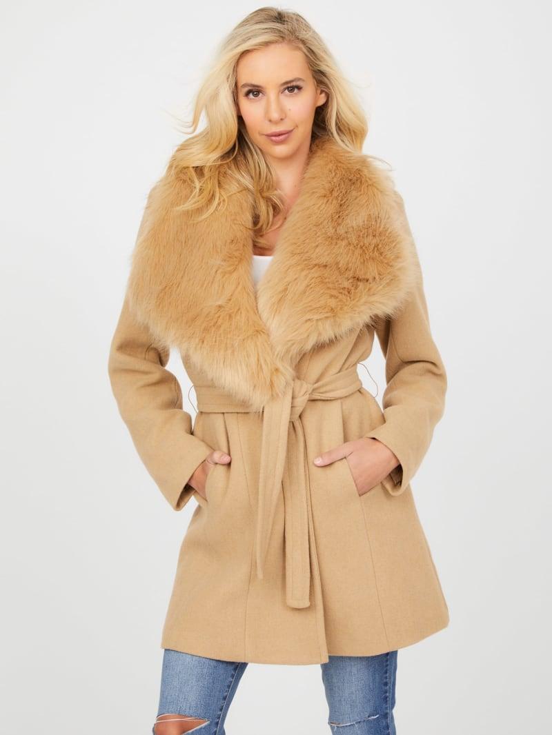 Mandy Faux-Fur Collar Coat