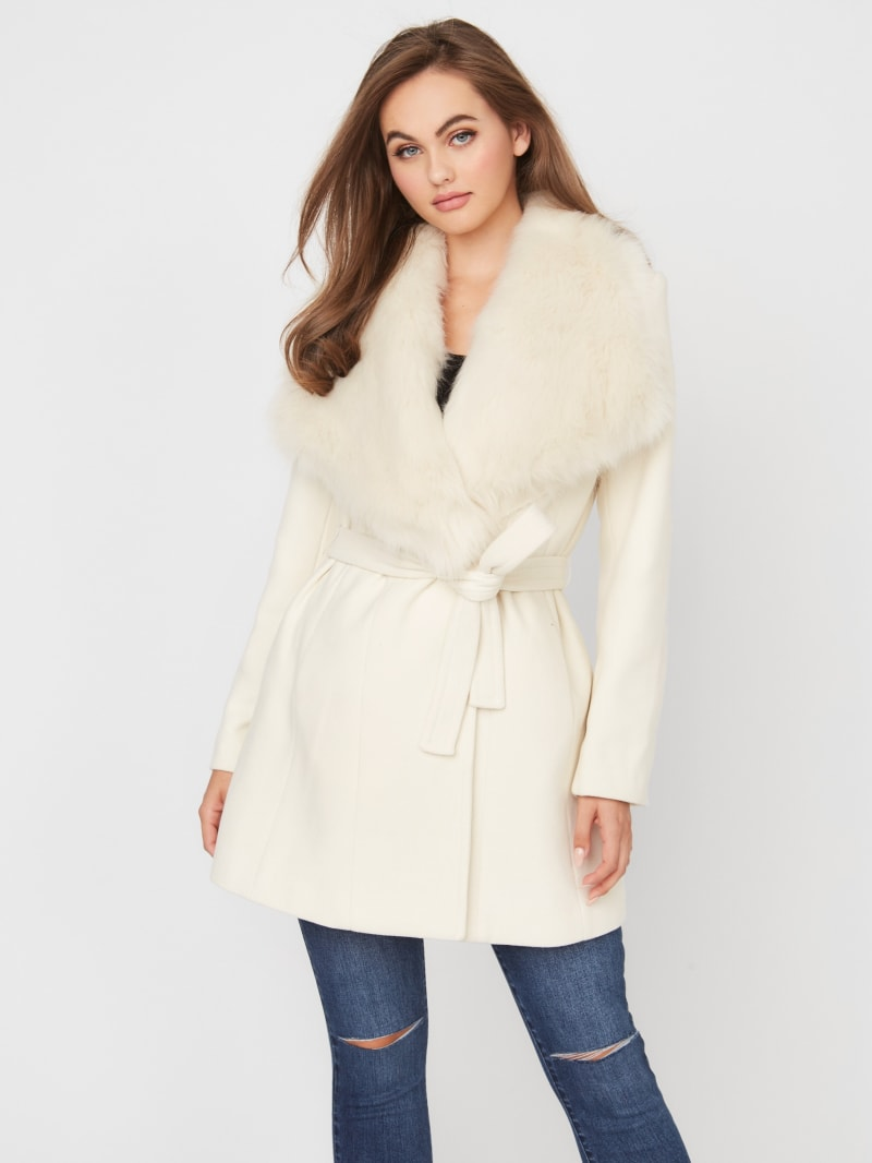 Mandy Faux-Fur Collar Coat