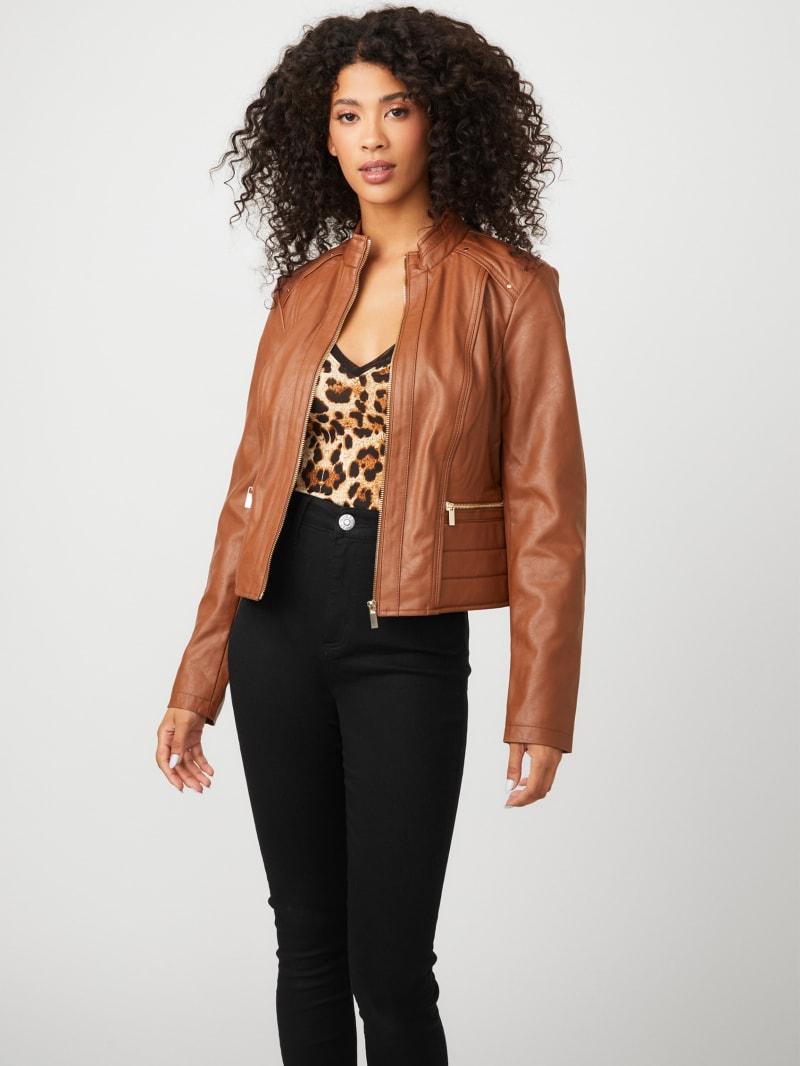 Heidi Faux-Leather Jacket