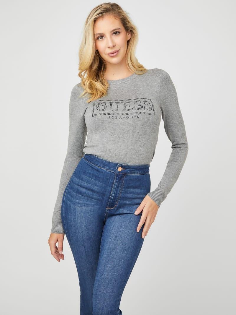 Danii Rhinestone Logo Sweater