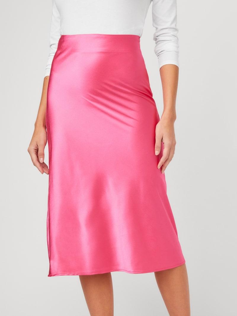 Jamie Satin Midi Skirt
