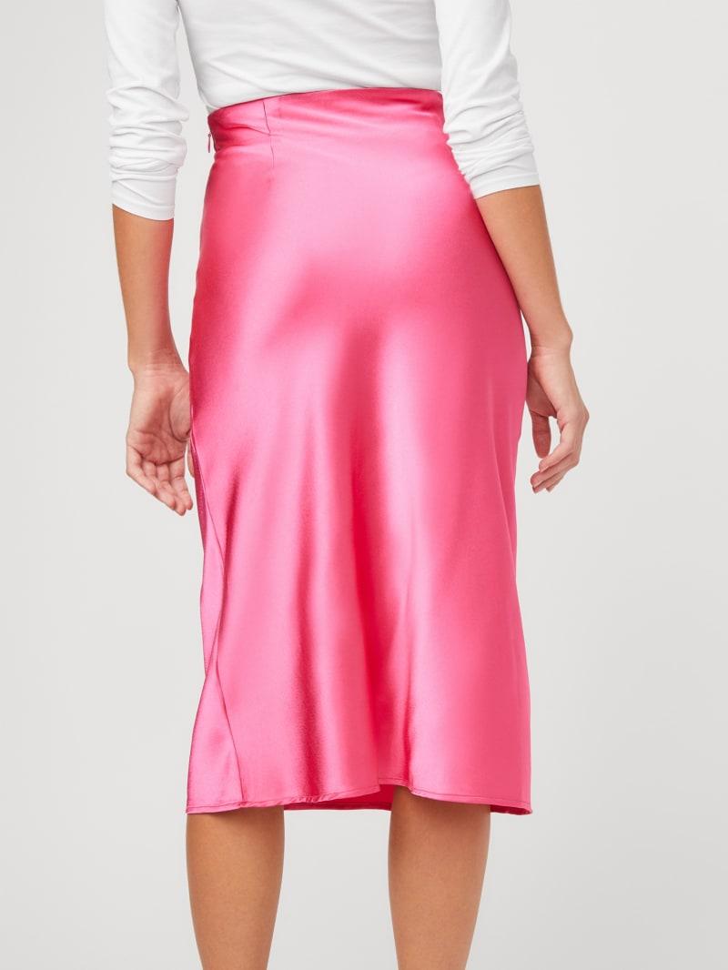 Jamie Satin Midi Skirt   GUESS Factory