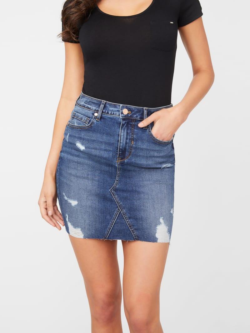 Amber Denim Mini Skirt