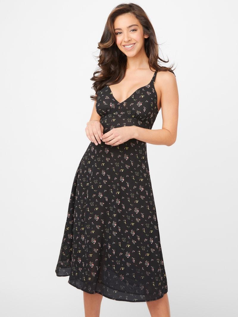 Lavena Chiffon Midi Dress