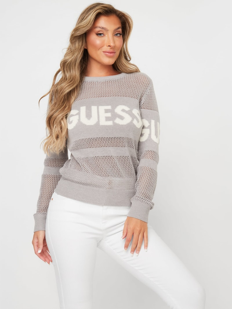 Frankie Mesh Logo Sweater