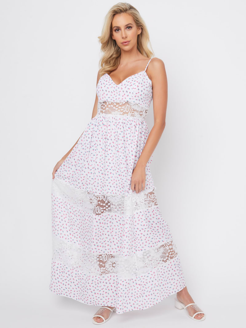 Deea Lace Insert Maxi Dress