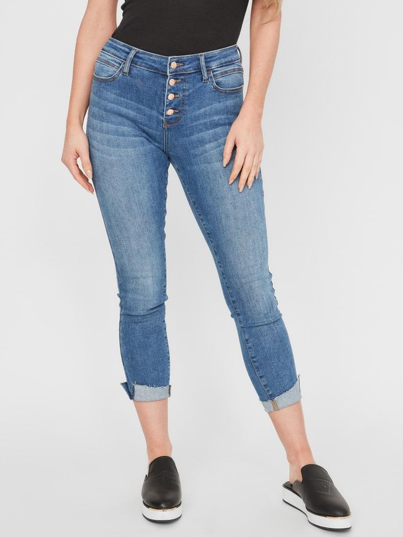 Valeria Mid-Rise Cuffed Skinny Jeans