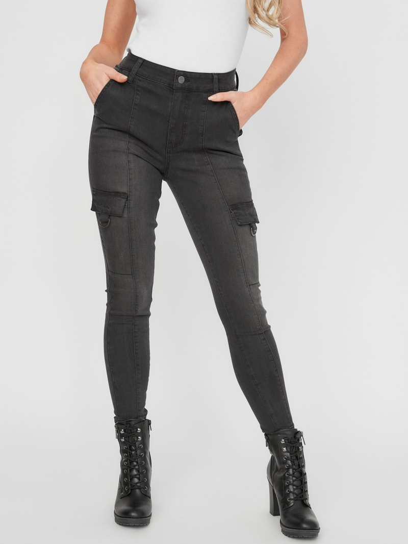 Zenah High-Rise Cargo Skinny Jeans