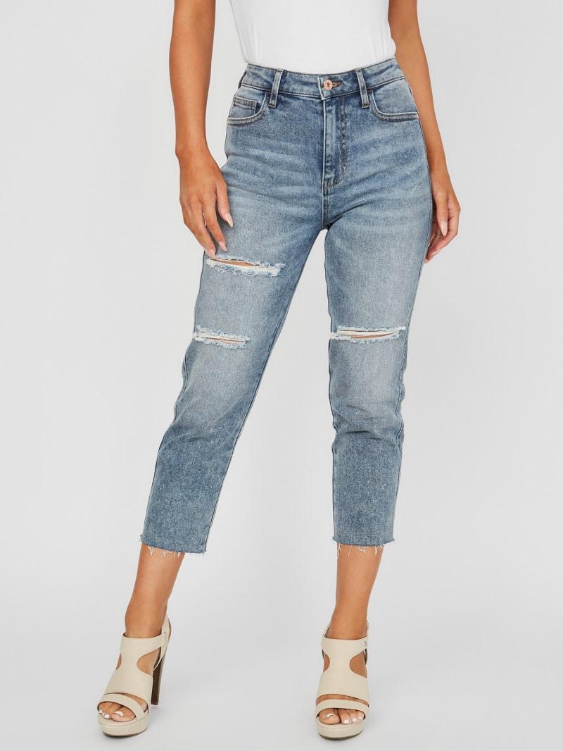 Evie High-Rise Slashed Slim-Fit Jeans