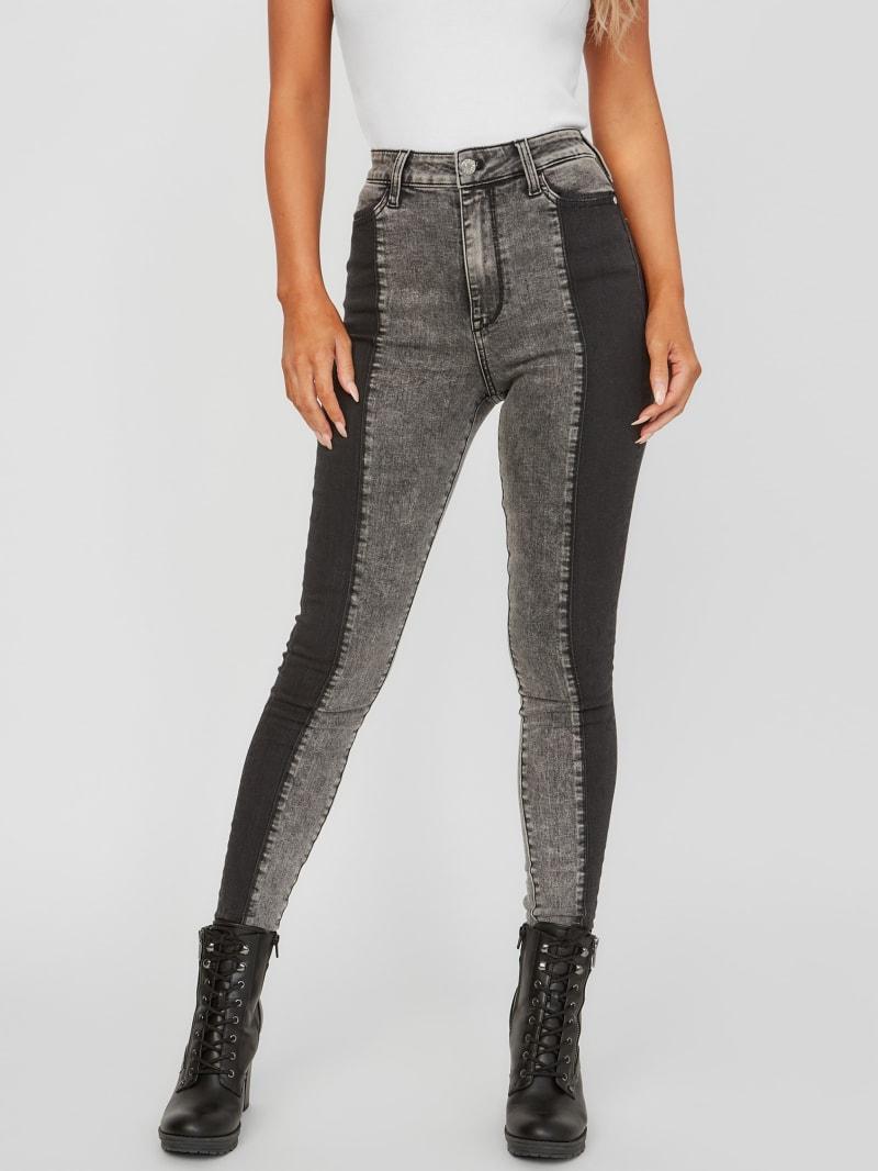 Eco Zaya Two-Tone Skinny Jeans