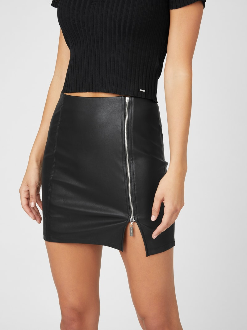 Caine Faux-Leather Skirt