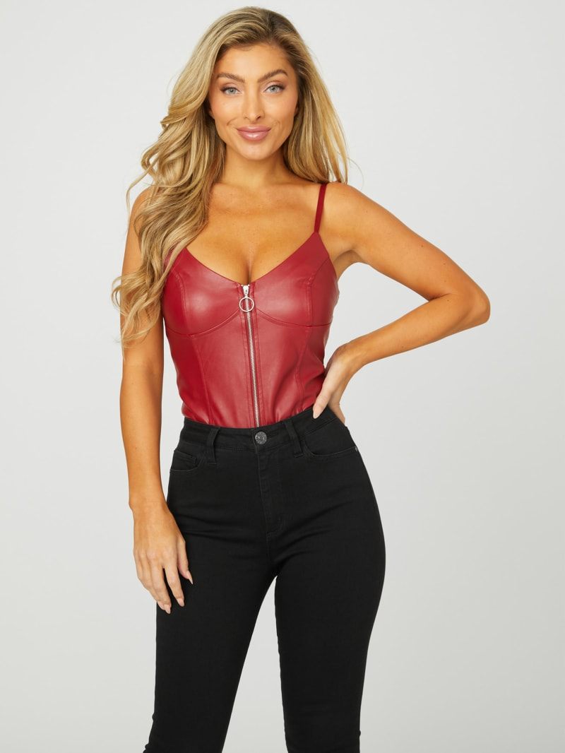 Ifra Faux-Leather Bodysuit
