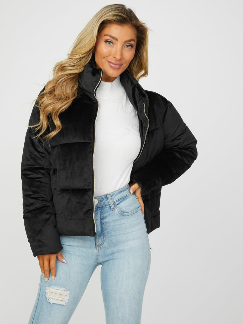 Fortune Velvet Puffer Jacket