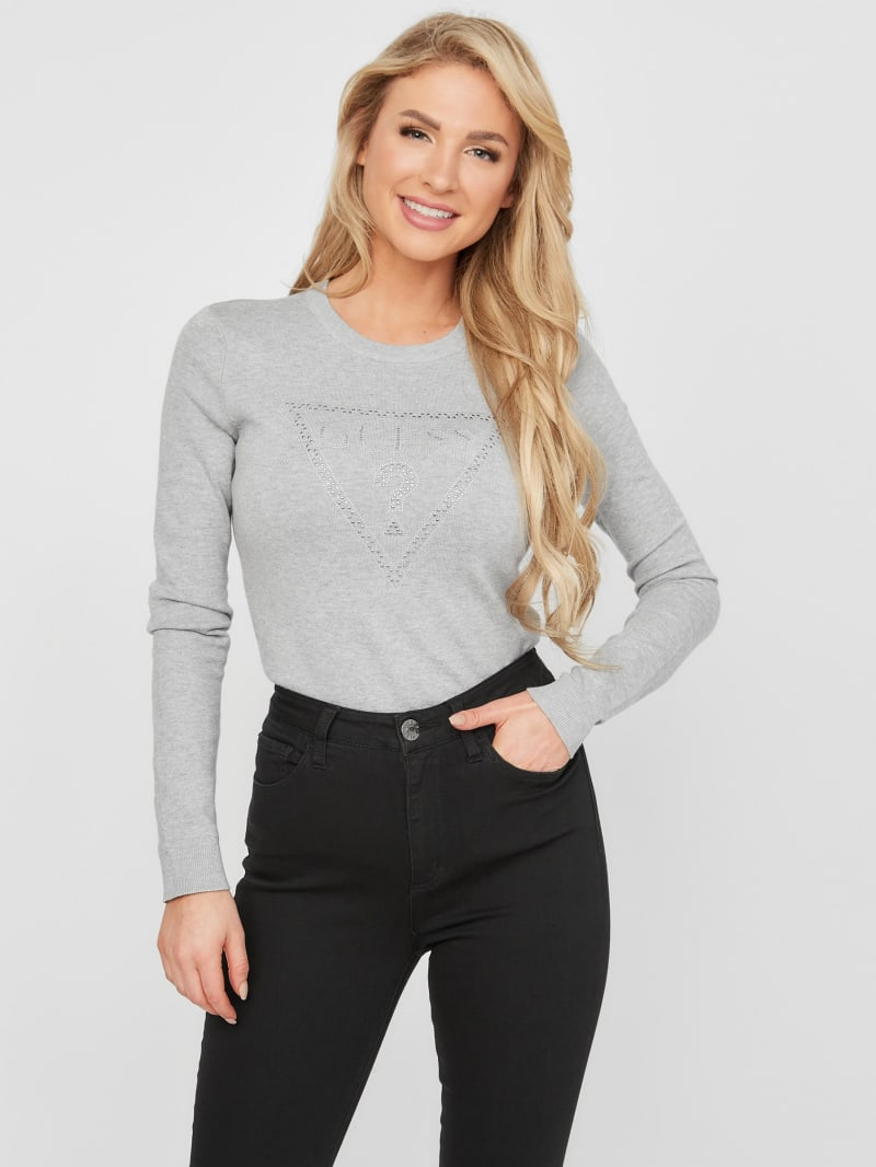 Tess Studded Logo Sweater