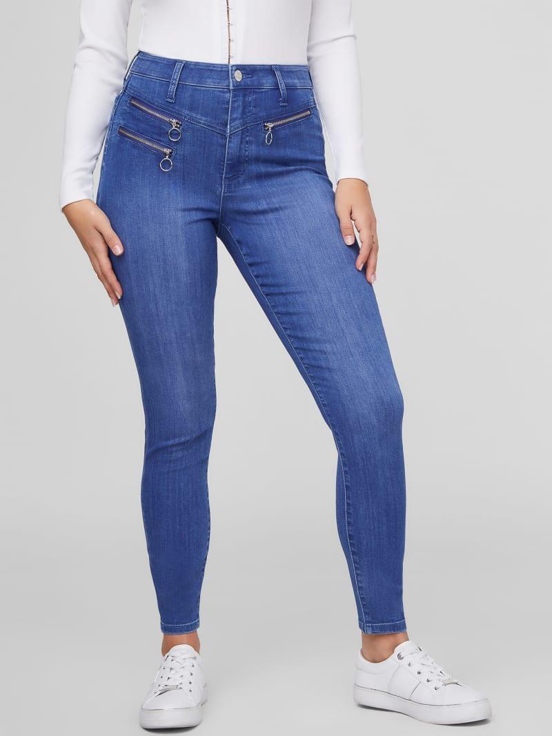Atlas Zippered Skinny Jeans