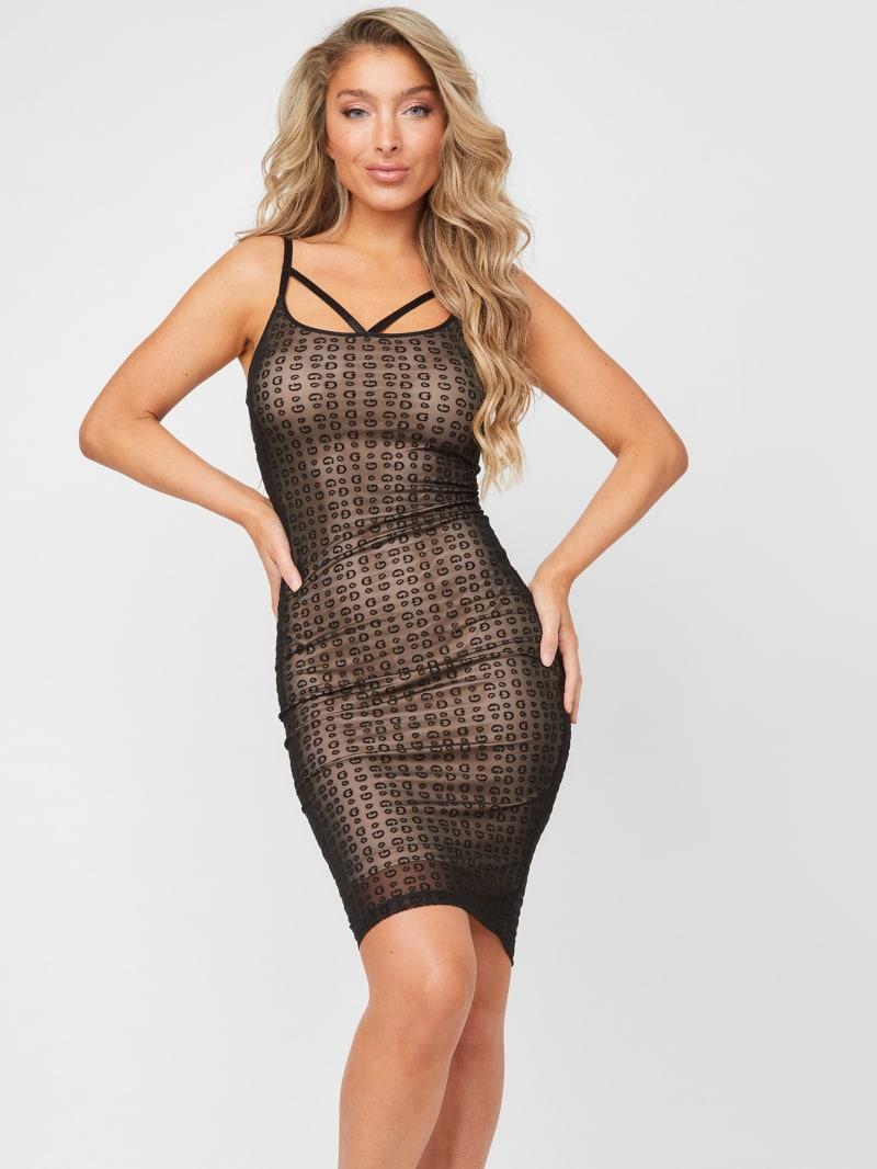 Conna Logo Print Dress