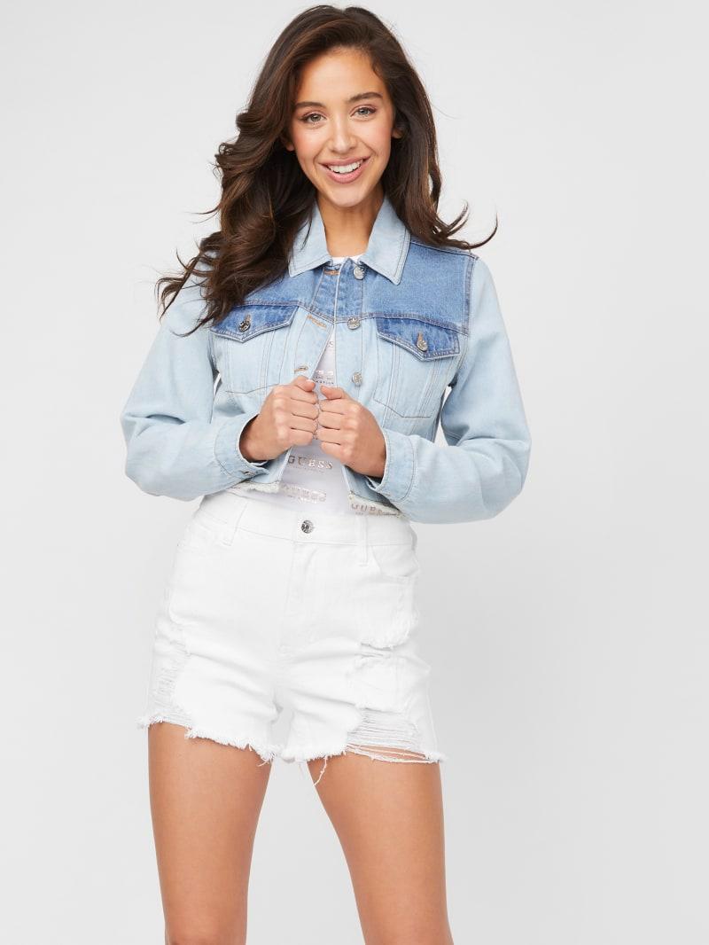 Camia Color-Block Denim Jacket
