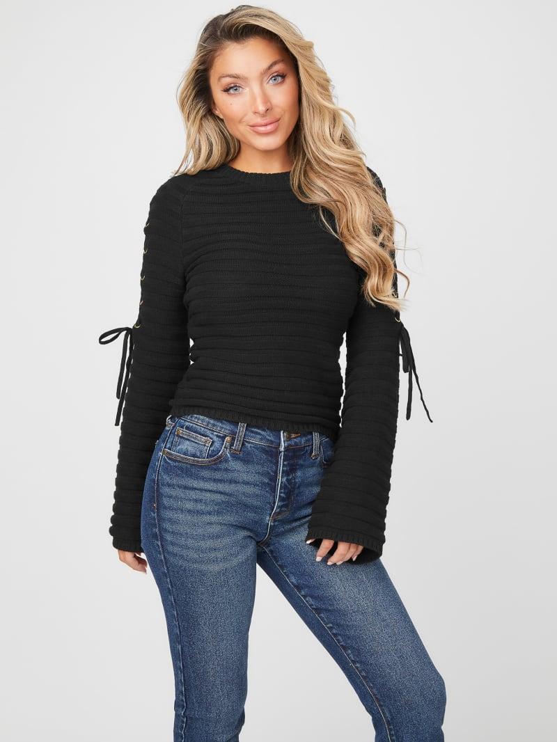Monique Lace-Up Sweater