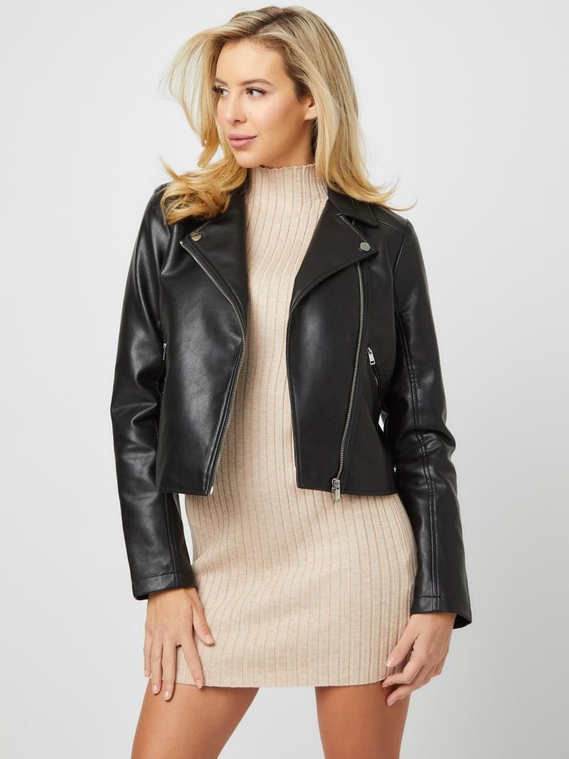 Ivy Faux-Leather Jacket