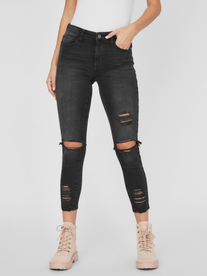 Danette Mid-Rise Destroyed Skinny Jeans