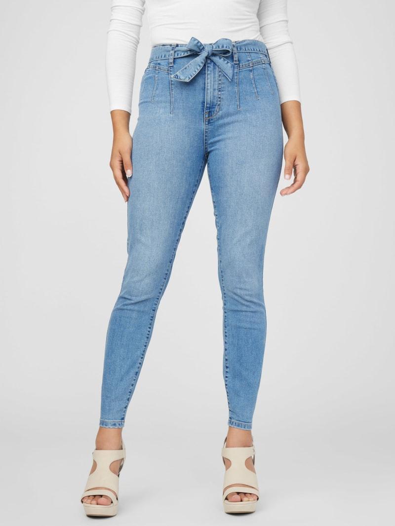 Malika Ultra High-Rise Belted Skinny Jeans