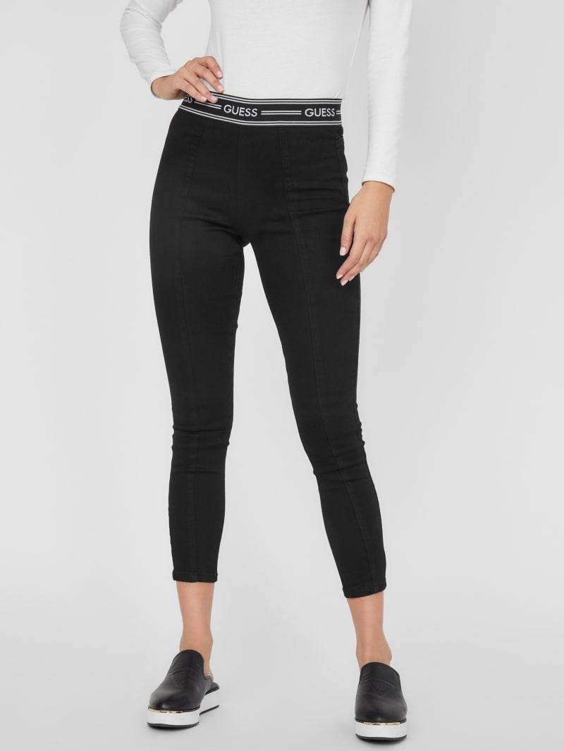 Monique High-Rise Logo Skinny Jeans