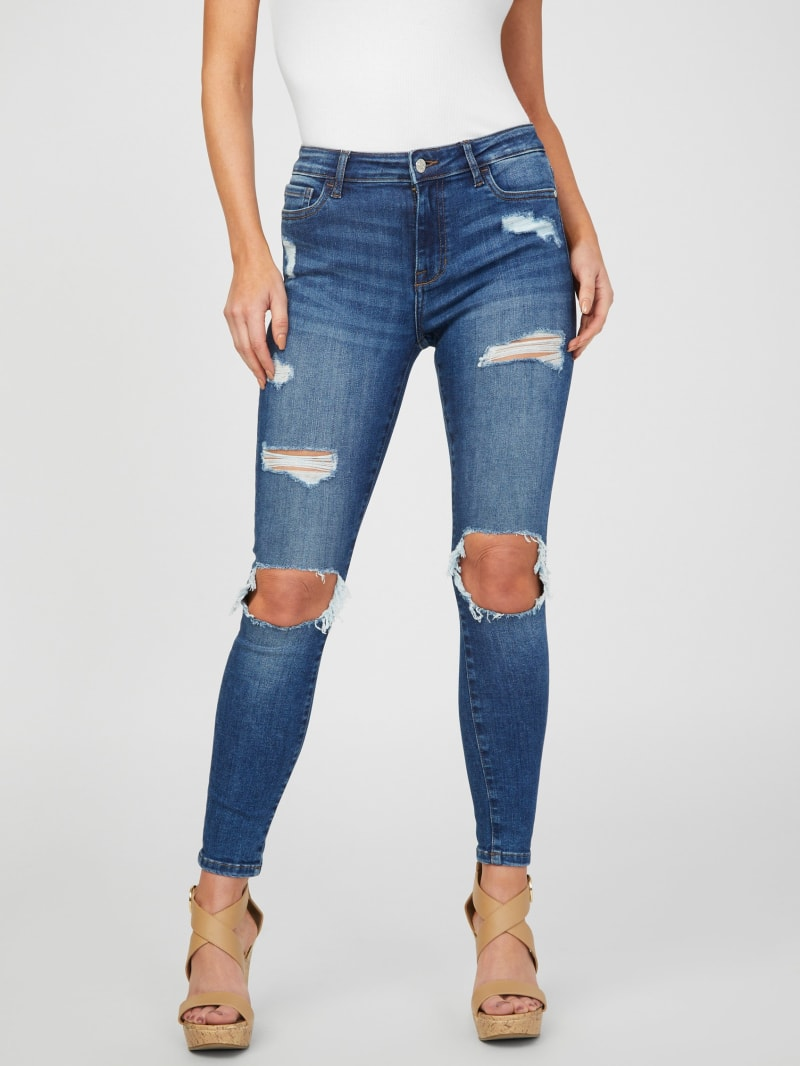Jolie Mid-Rise Destroyed Skinny Jeans