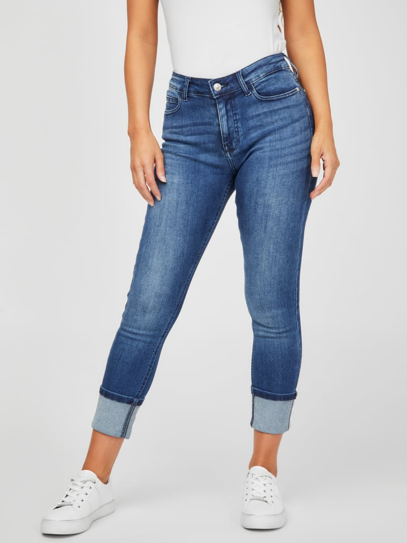 Claudine Mid-Rise Rolled Cuff Jeans