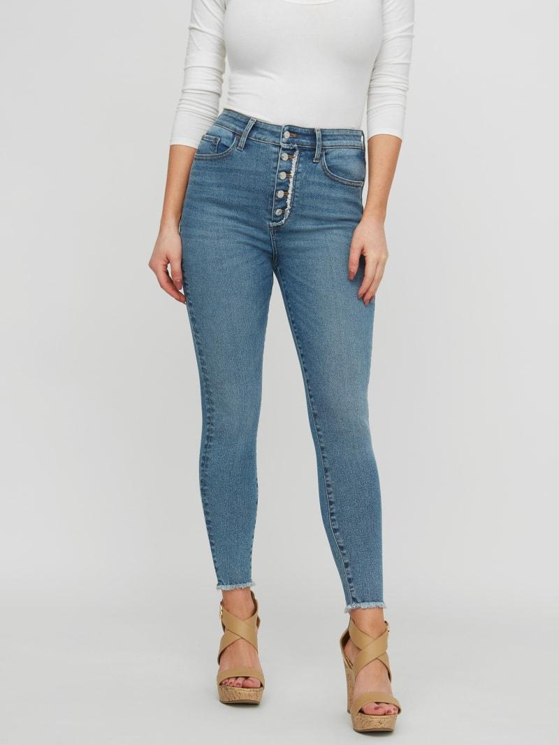Serafina Button-Fly Skinny Jeans