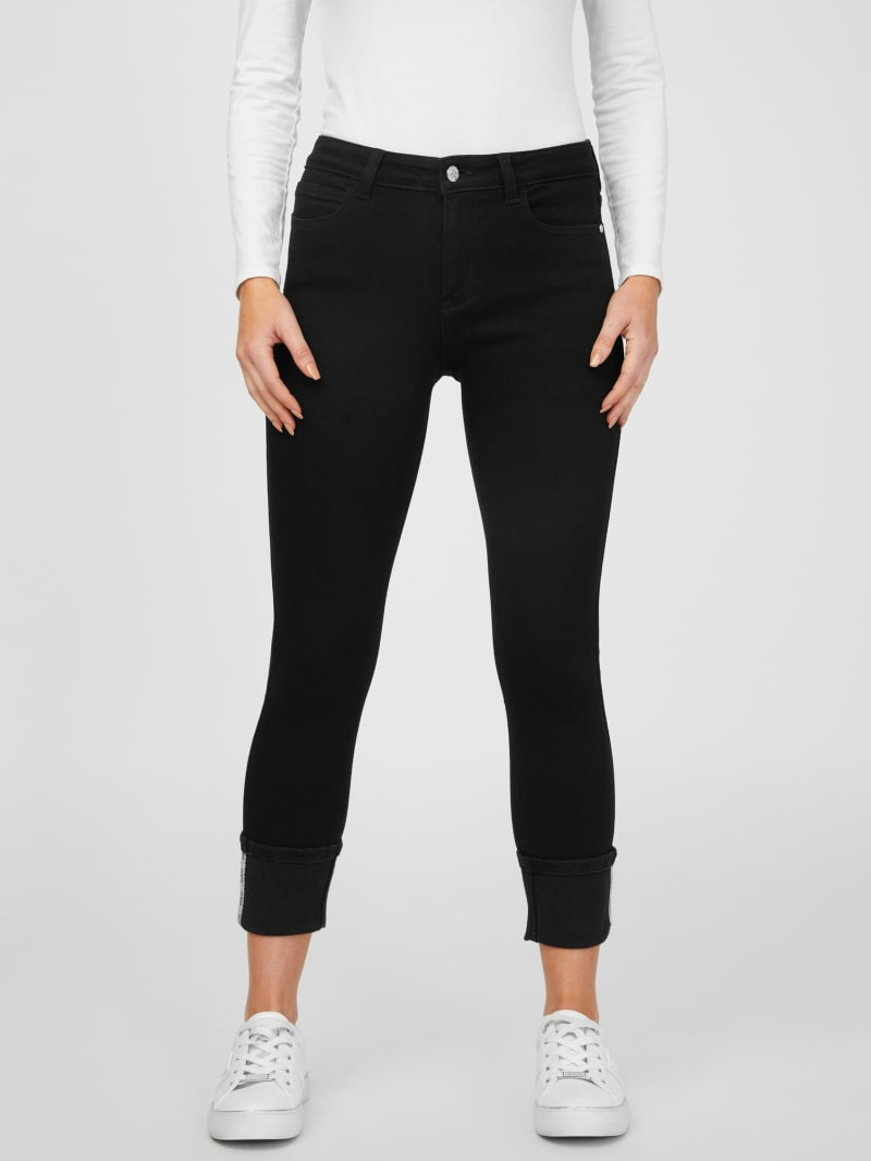 Claudine Mid-Rise Cuffed Jeans