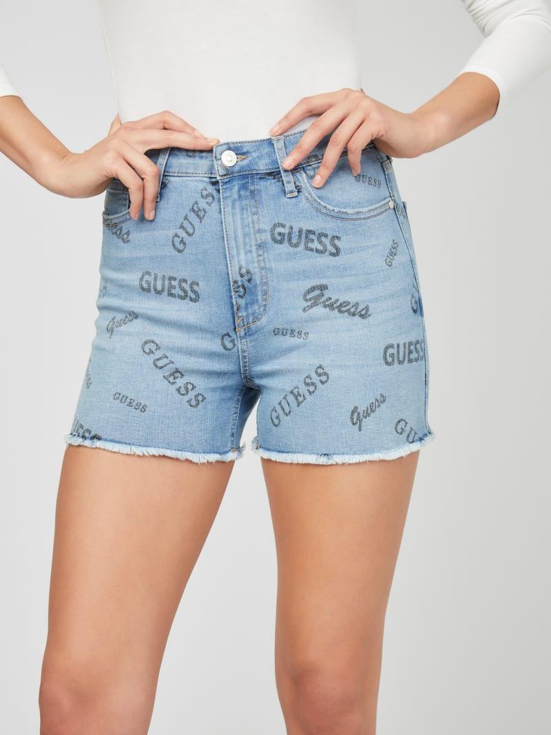 Aubrey Logo-Print Denim Shorts