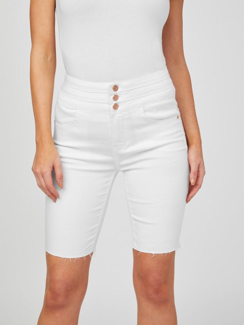 Giah White Bermuda Shorts