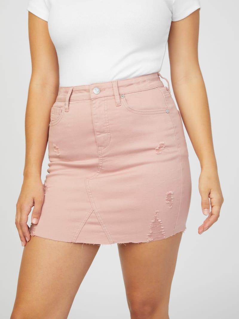 Amber Destroyed Mini Skirt