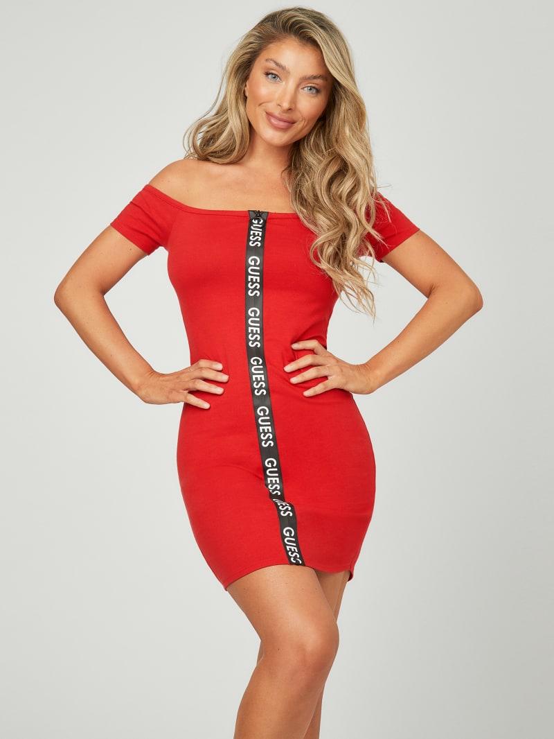 Rosie Logo Off-The-Shoulder Dress
