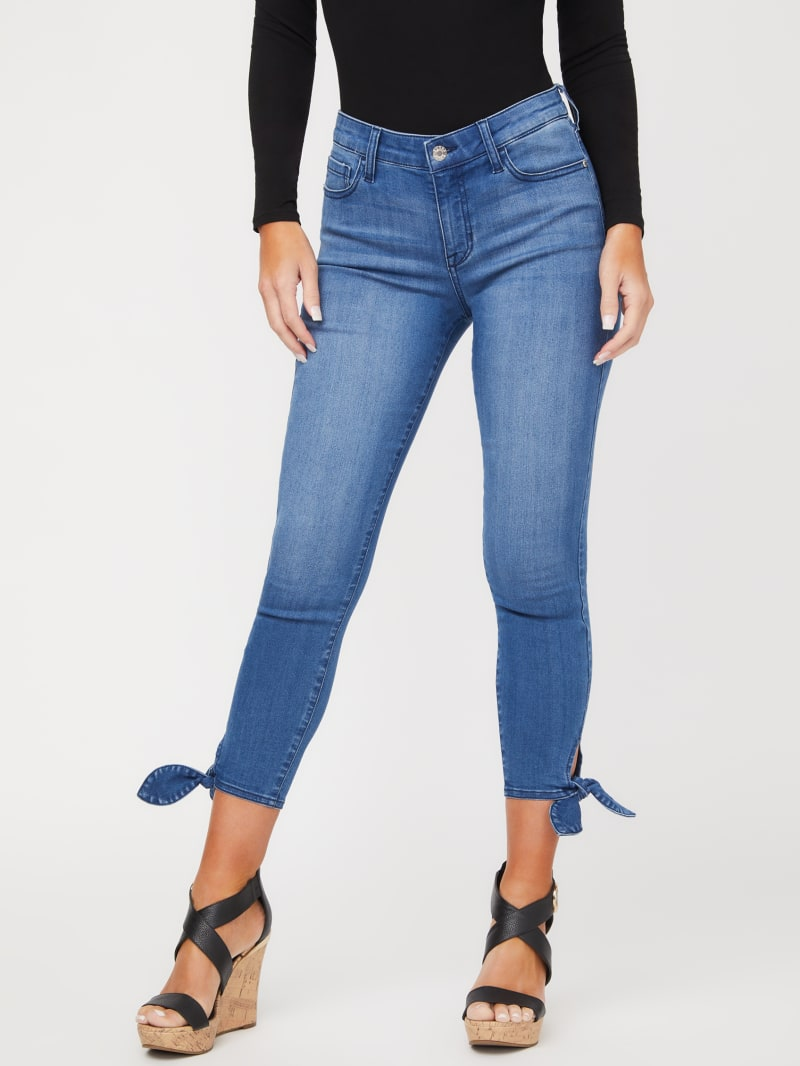 Adrianne Ankle-Tie Cropped Jeans