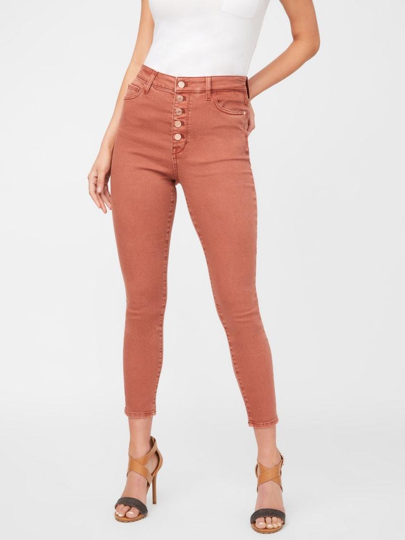 Pricilla Button-Front Skinny Jeans
