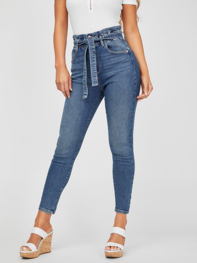 Kady Paperbag Skinny Jeans