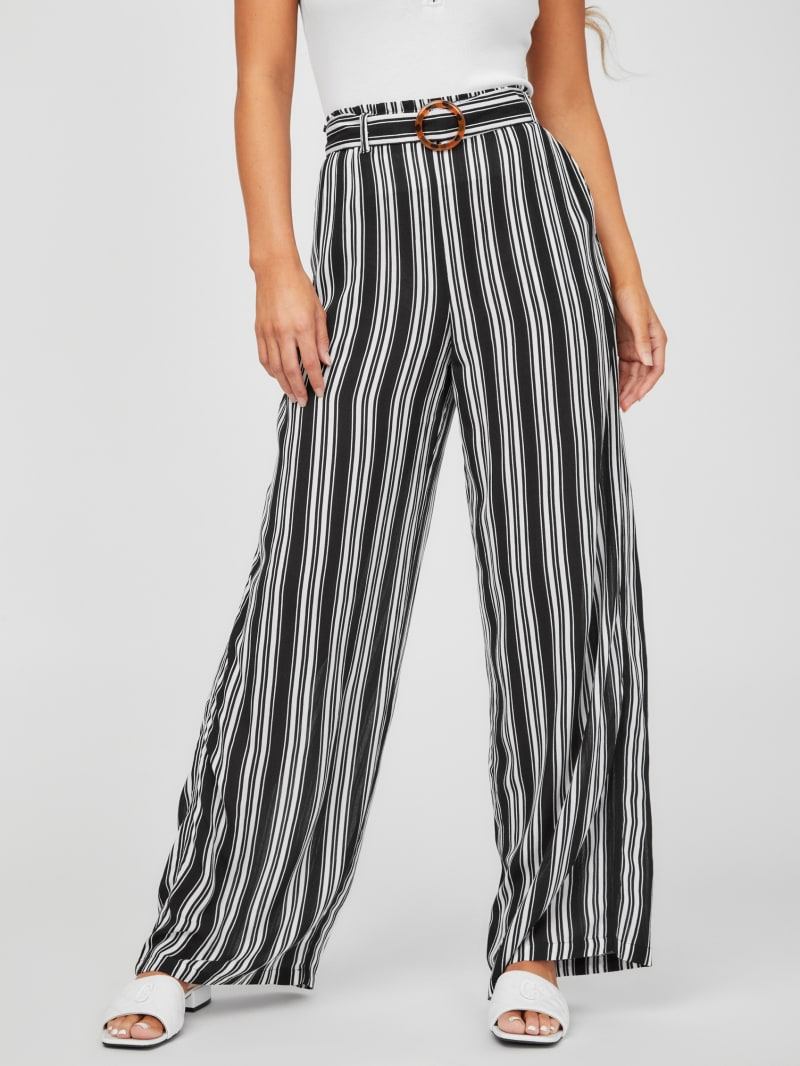 Remi Belted Wide-Leg Pants