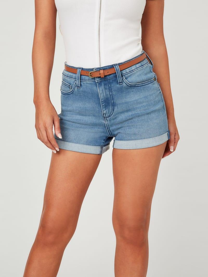 Nilla Belted Denim Shorts