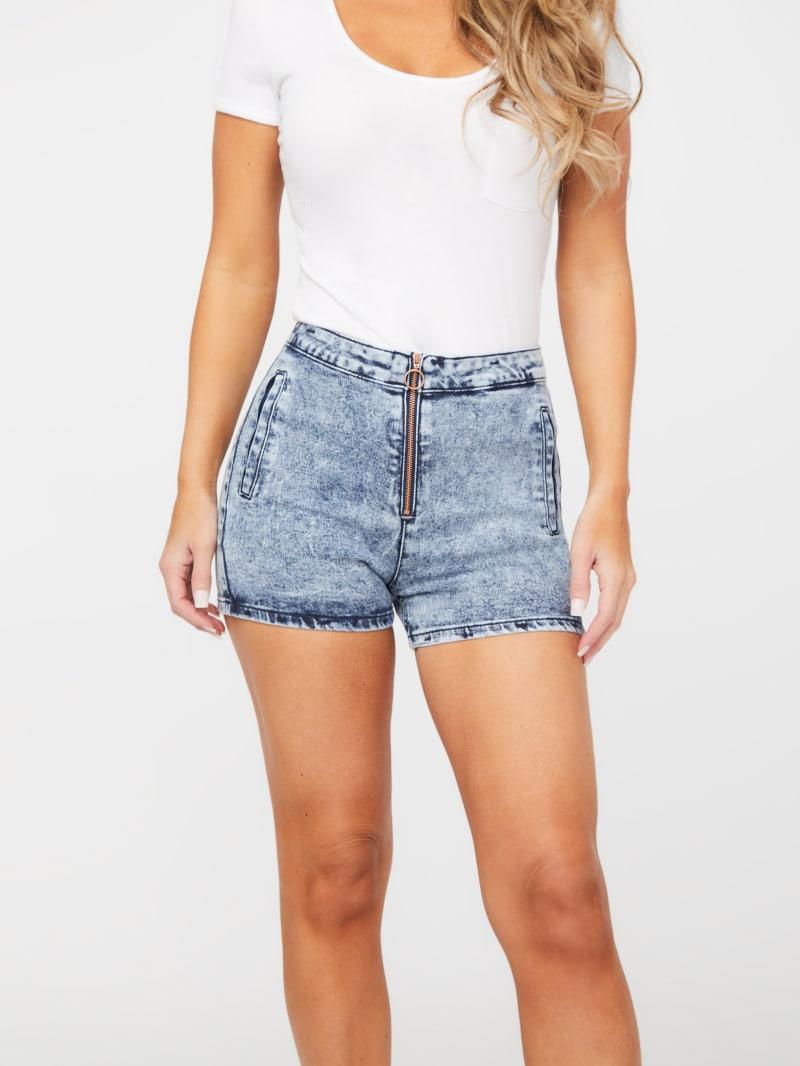 Ursula Zip-Front Shorts