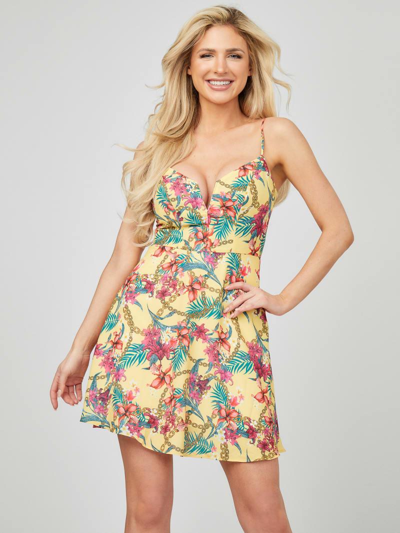 Nikki Tropical Mini Dress