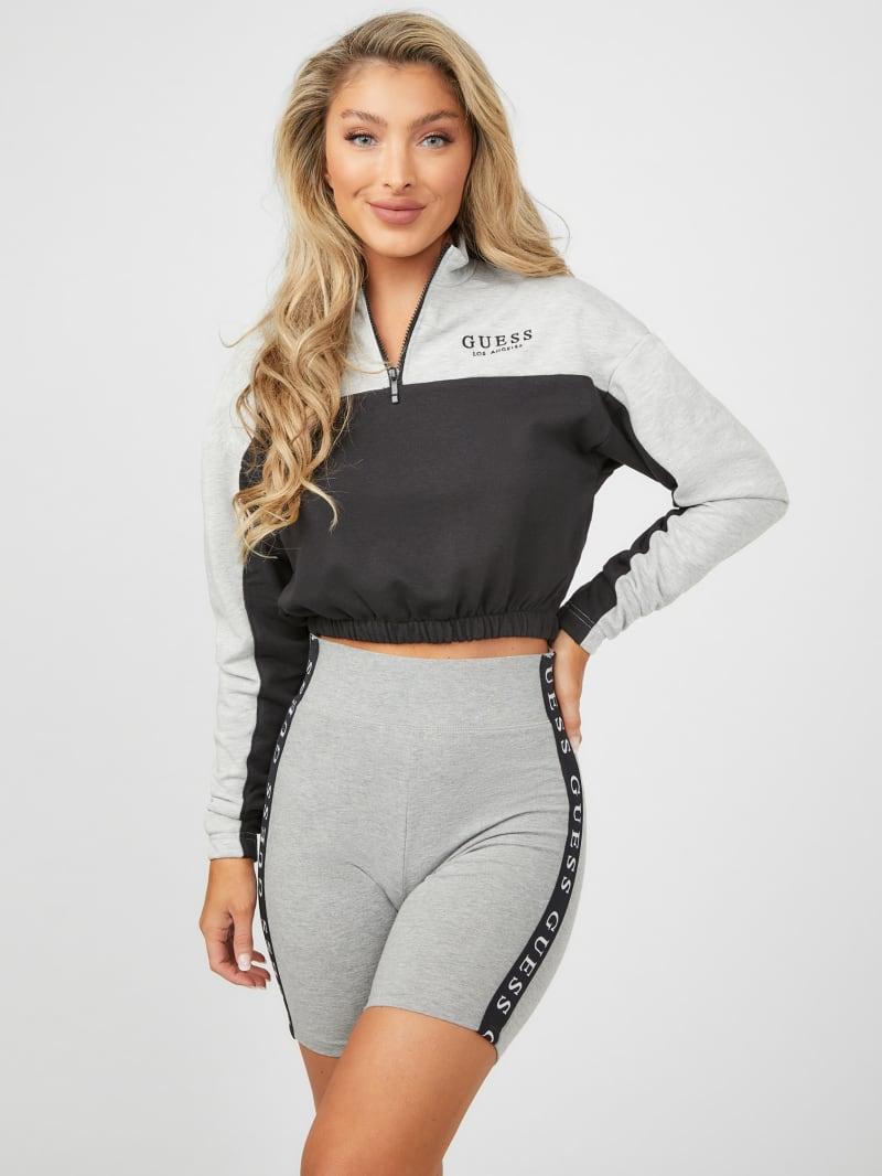 Grey Zip-Front Pullover