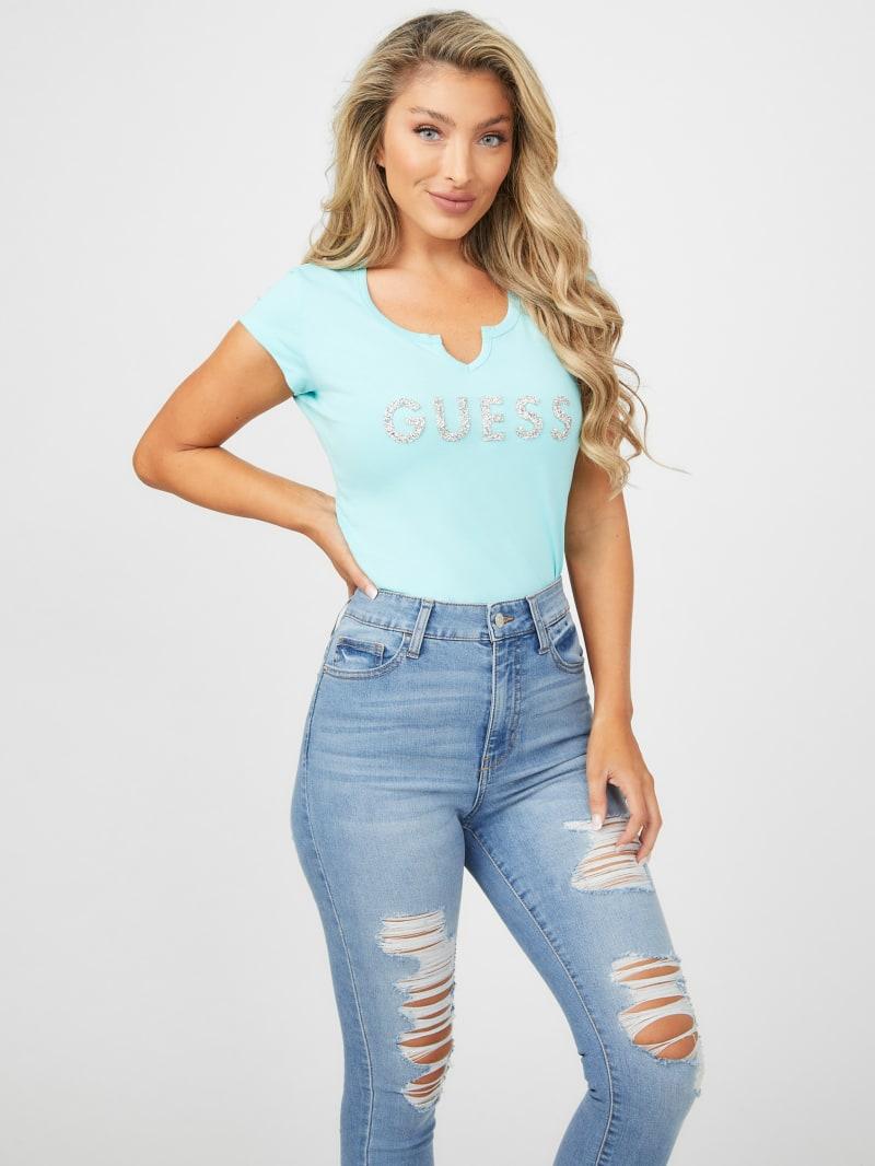 Holly Crush Embellished Logo Tee
