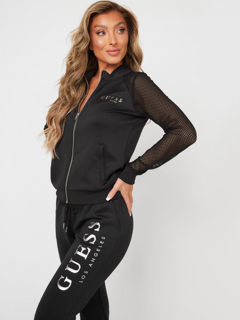 Jade Mesh Zip-Up Jacket